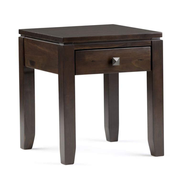 Simpli Home Cosmopolitan End Table, Brown