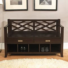 Simpli Home Sea Mills Entryway Storage Bench