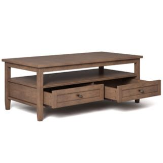 Simpli Home Warm Shaker Coffee Table