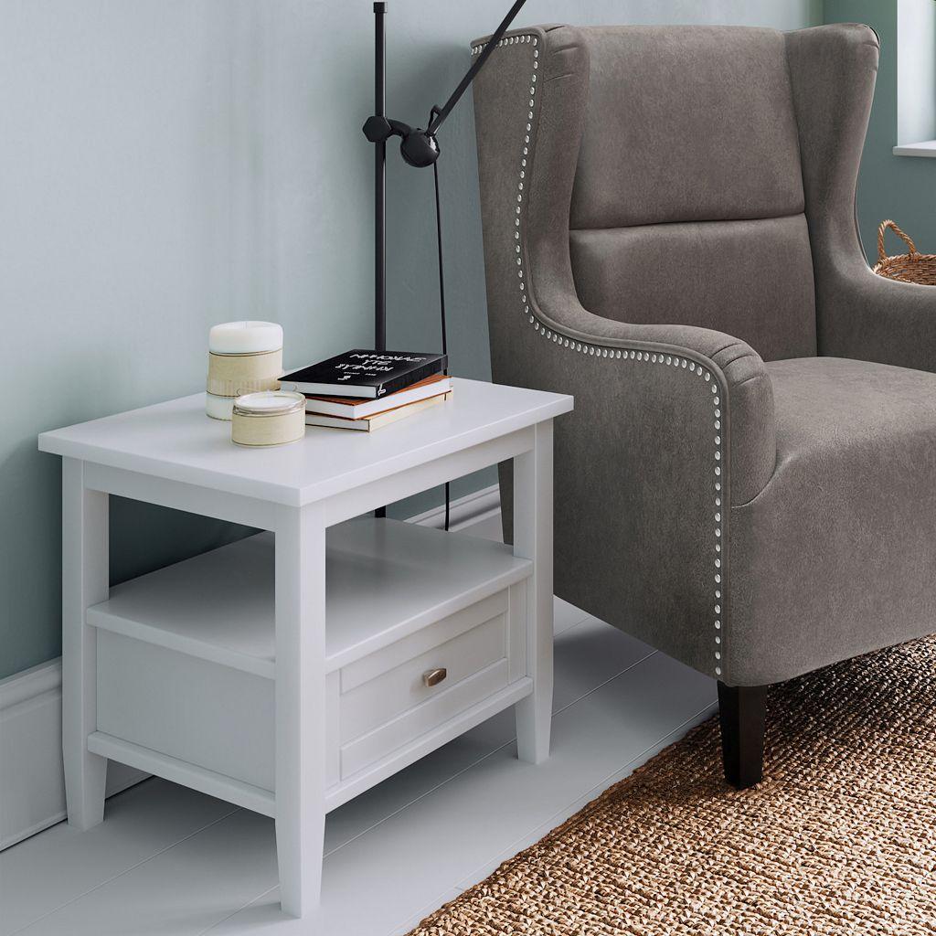 Simpli Home Warm Shaker End Table