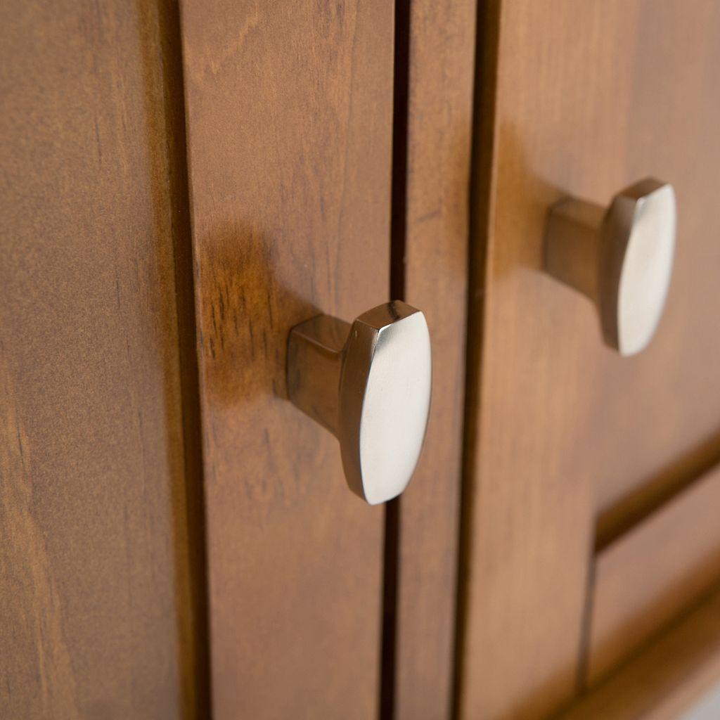 Simpli Home Warm Shaker Entryway Storage Bench