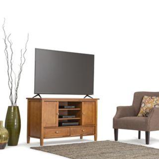 Simpli Home Honey Warm Shaker TV Stand