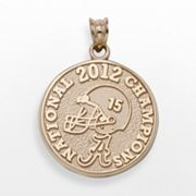 LogoArt Alabama Crimson Tide 2012 BCS National Champions 10k Gold Charm
