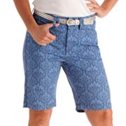 Lee Jackie O Brocade Slimming Bermuda Shorts