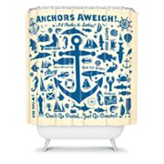 DENY Designs Anderson Design Group Anchors Away Shower Curtain