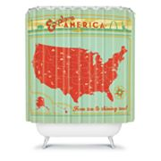 DENY Designs Anderson Design Group Explore America Shower Curtain