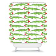 DENY Designs Andi Bird Alligator Love Shower Curtain