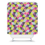 DENY Designs Bianca Green Ocean Of Pyramid Shower Curtain