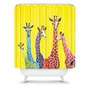 DENY Designs Clara Nilles Jellybean Giraffes Shower Curtain