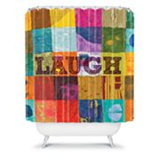 DENY Designs Elizabeth St. Hilaire Nelson Laugh Fabric Shower Curtain