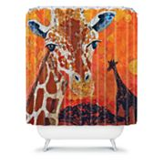 DENY Designs Elizabeth St. Hilaire Nelson Giraffe Fabric Shower Curtain