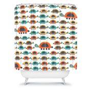 DENY Designs Gabriela Larios Colorful Turtles Shower Curtain