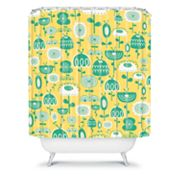 DENY Designs Gabriela Larios Flowers in a Sunny Garden Shower Curtain