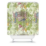 DENY Designs Geronimo Studio Colored Birds Shower Curtain
