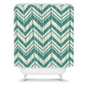 DENY Designs Heather Dutton Weathered Chevron Shower Curtain