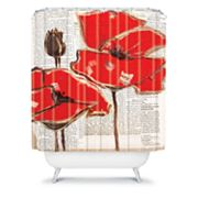 DENY Designs Irena Orlov Red Perfection Shower Curtain
