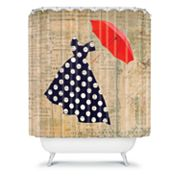 DENY Designs Irena Orlov Red Umbrella Shower Curtain