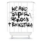 DENY Designs Kal Barteski Superheroes Shower Curtain