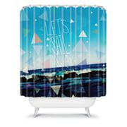 DENY Designs Leah Flores Let's Sail Away Shower Curtain