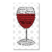 Wine Glass Canvas Wall Art by Louise Carey