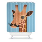 DENY Designs Mandy Hazell Gentleman Giraffe Shower Curtain