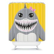 DENY Designs Mandy Hazell Shark Tooth Sally Shower Curtain