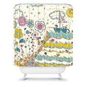 DENY Designs Rebekah Ginda Design Floating to the Edge Shower Curtain