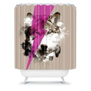 DENY Designs Robert Farkas Wolf Rocks Shower Curtain
