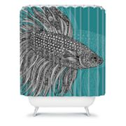 DENY Designs Valentina Ramos Beta Fish Shower Curtain