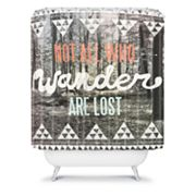 DENY Designs Wesley Bird Wander Shower Curtain
