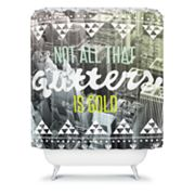 DENY Designs Wesley Bird Glitters Shower Curtain
