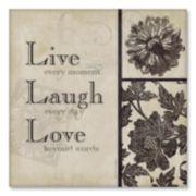 Live Laugh Love Canvas Art by Stephanie Marrott