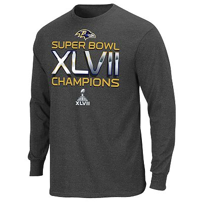 Baltimore Ravens On Our Way Super Bowl XLVII Champions Long-Sleeved Tee - Men