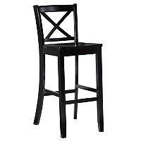 Linon X Back Bar Stool