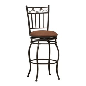 Linon Swag Swivel Counter Stool