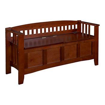 Linon Home Decor Short Split Seat Storage Bench