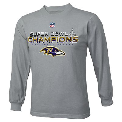 Baltimore Ravens Official Super Bowl XLVII Champions Tee - Boys 8-20