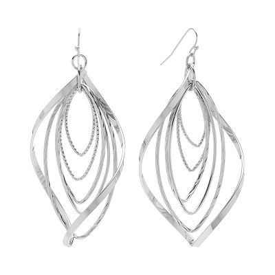 Apt. 9 Concentric Marquise Drop Earrings