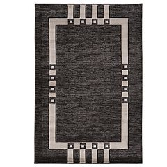 Linon Milan Gray Geometric Rug - 1'10'' x 2'10''