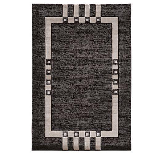 Linon Milan Gray Geometric Rug