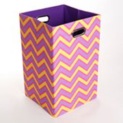GiggleDots Color Pop Zigzag Folding Laundry Bin