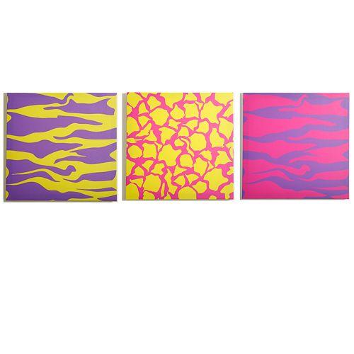 Modern Littles 3-pc. Color Pop Animal Wall Art Set