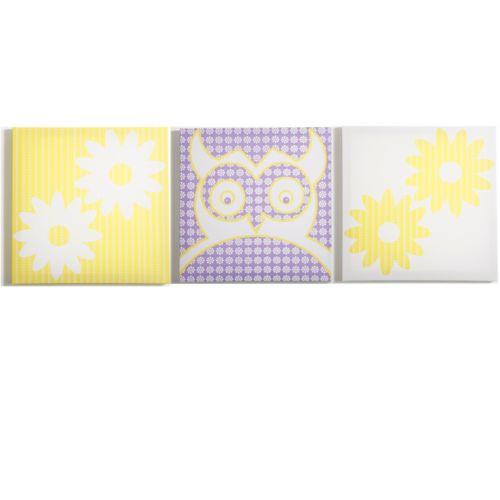 Modern Littles 3-pc. Sweets Owl Wall Art Set