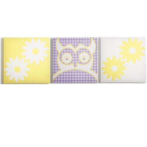 Modern Littles 3-pc. Sweets Owl Wall Art Set