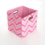GiggleDots Rose Zigzag Folding Storage Bin