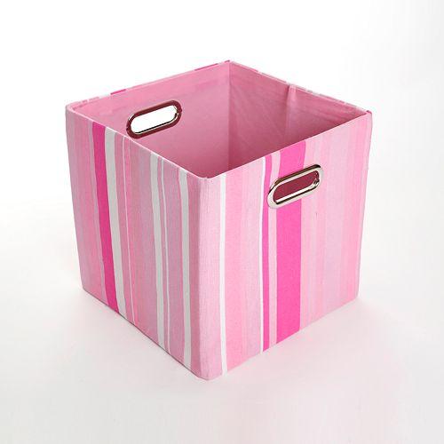 Modern Littles Rose Striped Folding Storage Bin