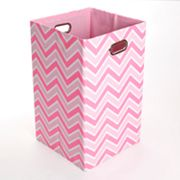 GiggleDots Rose Zigzag Folding Laundry Bin
