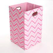 Modern Littles Rose Zigzag Folding Laundry Bin