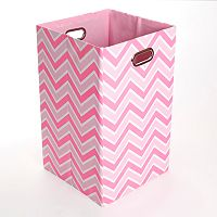 Modern Littles Rose Zigzag Folding Laundry Bin