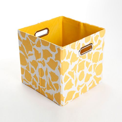 Modern Littles Rusty Giraffe Folding Storage Bin